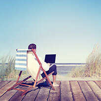 Business Person Working Remotely